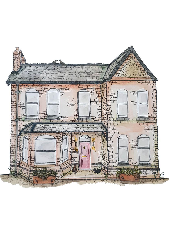 Detached House Portrait Blank