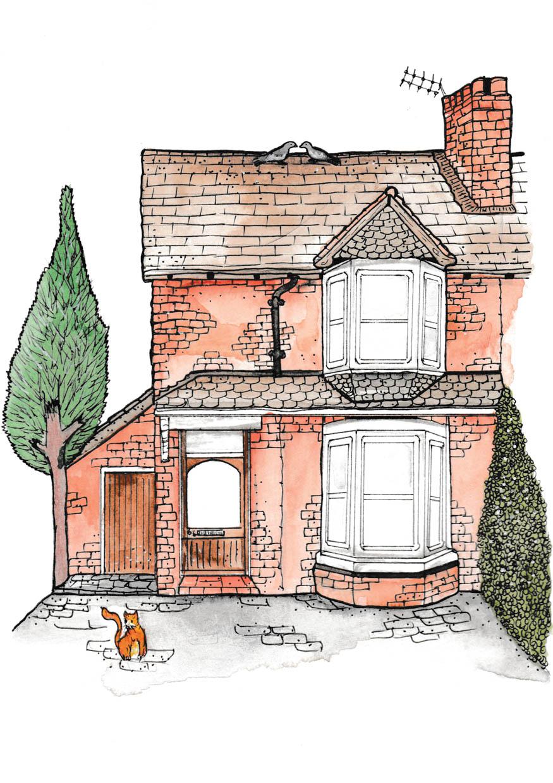 End Terrace House Portrait
